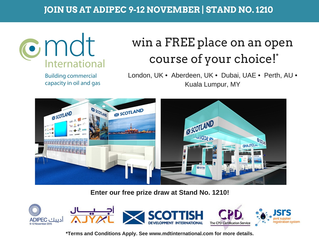 Join MDT International at ADIPEC